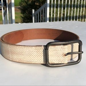 Fossil genuine leather wide white brown belt